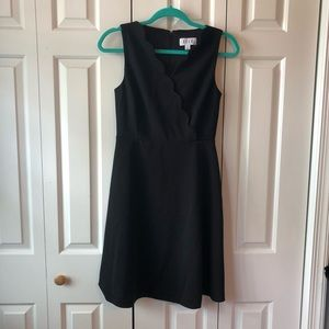 Elle Sleeveless LBD w/Scalloped Neckline
